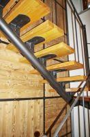 Escalier à poutres simples