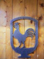Panneau décoratif coq