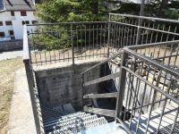Escalier avec balustrade vu haut