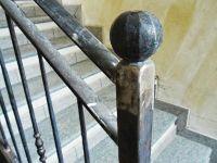Terminal de rampe escalier avec bouton forgé