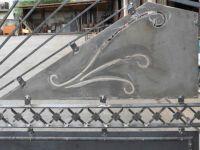 Porte à deux ante avec cadre et radialement